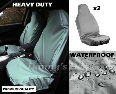 Grey Front Driver Passenger Car Seat Covers Set For Nissan Qashqai 2007 - 2013