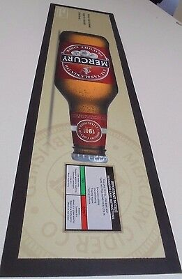 Mercury Draught Cider Beer Mat - New with out packaging Rubber Backed
