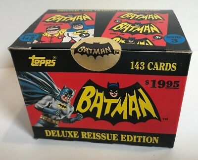 1966 Topps Batman Reissue Set 1966 MISB Factory Sealed MINT 143 Card Set DC
