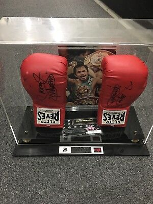 Manny Pacman Pacquiao Signed Boxing Glove Autographed PSA/DNA COA Cleto Reyes Wh