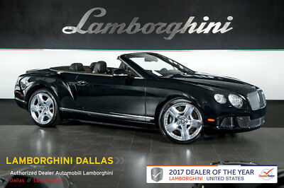 2013 Bentley Continental GT GTC Convertible 2-Door MULLINER PKG+NAV+RR CAM+PWR HEATED/COOLED SEATS+PIANO BLACK+REAR VIEW CAMERA