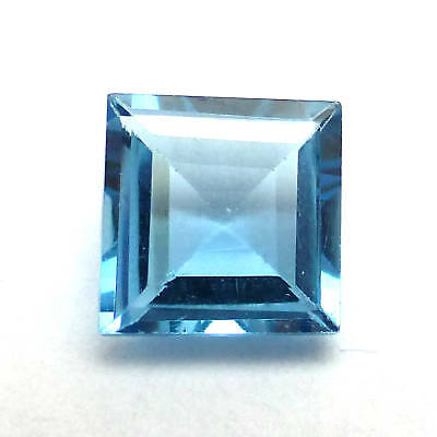 Lab Created Square Loose Diamond 6mm Blue Topaz Fast & Free Delivery AAAAA