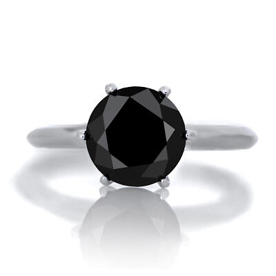Lab Created Round Black Diamond 4mm Fast & Free Delivery AAAAA