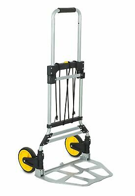 Mount-It! Folding Hand Truck Dolly 264 Lb Capacity Telescope Handel Rubber Wheel