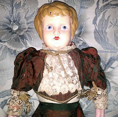 Vtg Tin Head Minerva German Doll 6 1/4