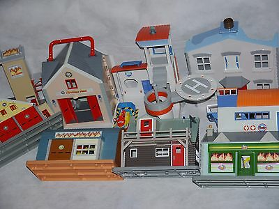 Fireman Sam Buildings ~ Boathouse,Fire Station,Mountain Lodge,Mike's Workshop...