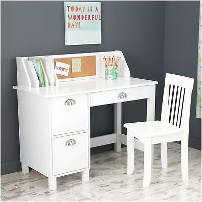 Study Desk with Drawers , White - 26704