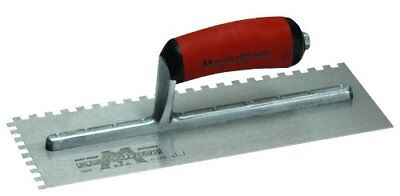 "Marshalltown 776SD 11"" x 4 1/2"" Notched Trowel W/ Curve Dura Soft Handle"