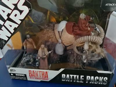 Star Wars 30th Battle packs Bantha with tusken raiders