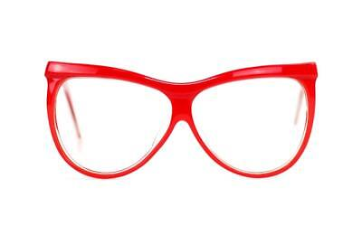 179ed0dd69 Vtg Laura Biagiotti Oxsol T-2058 Large Cateye Red Eye sunglasses Frame (No