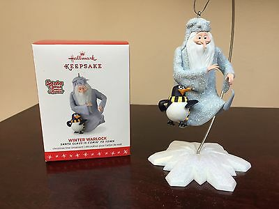 2016 Hallmark Ornament Winter Warlock    Santa Claus is Comin' to Town