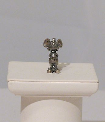 Vintage Sterling Silver 3D Mickey Mouse Mouse Charm