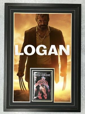 Framed Movie Poster And Bagged #1 Comic Combination: Wolverine / Logan