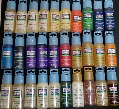 Plaid Gallery Glass Window Color Paint Set for Stain Glass 2 oz-LOT OF 28-NEW