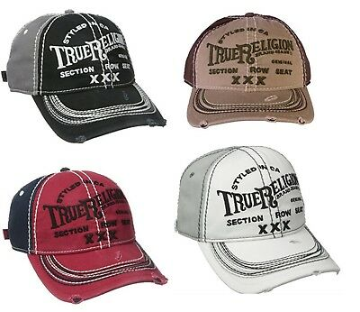 New True Religion Brand Jeans Triple X Vintage Baseball Cap Adjustable Hats