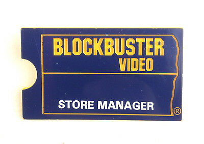 BLOCKBUSTER VIDEO Rare Store Manager Employee Name Tag Pin Badge