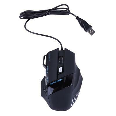 5500DPI Adjustable 7 Button LED Optical USB 2.0 Wired Gaming Mouse for Pro Gamer