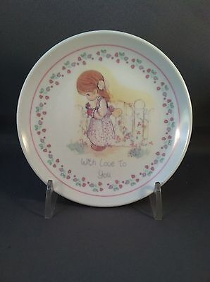 """Precious Moments """"With Love to You"""" Mini Plate 1990"""