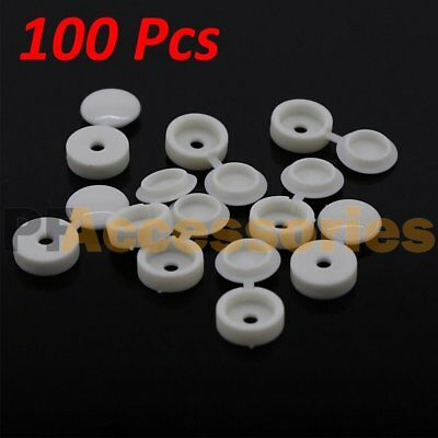 10pcs Hinged Plastic Screw Cover Fold Snap Caps For Car Home Furniture DecoH RHC