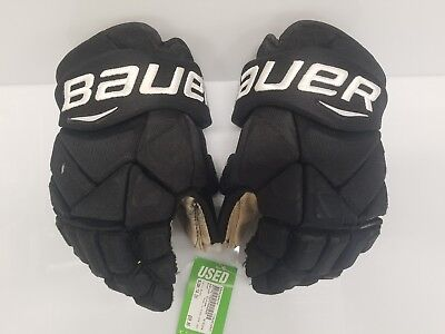 "Trevor Lewis LA Kings Game Used Bauer Vapor 1X Pro Gloves Black 14"" 2016-2017"