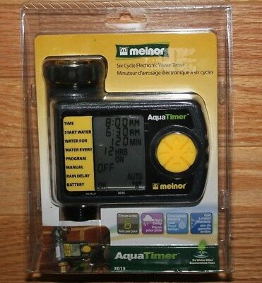 Melnor AquaTimer 6 Cycle 3015 Electronic Digital Water Timer