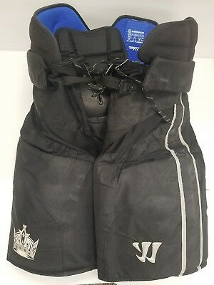 Dwight King LA Kings Game Used Warrior Hockey Pants Black XL 2016-2017