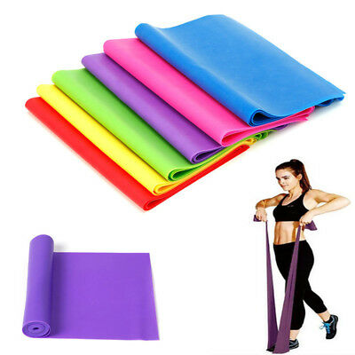 AU Sport Exercise Resistance Band Fitness Belt Yoga Stretch Band Strips Hot