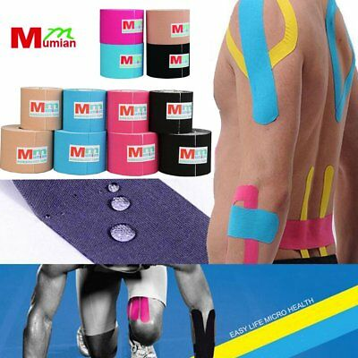 1 Roll 5mx5cm Kinesiology Sports Muscles Care Elastic Physio Therapeutic Tape BE