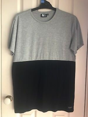 Men's Black And Grey Rip Curl T Shirt Size Small