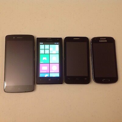 Smartphone Lot For Parts Or Repair Samsung Alcatel Microsoft Cherry Mobile Cell