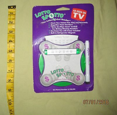 Lotto Spotto-The Lottery Ticket Reader-Magnet-As Seen On TV-Magnify Tkt Numbers