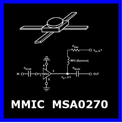 (2 x) MMIC MSA0270 -21 AVANTEK MIL-selection , 2,8 GHz , 12,5dB , ceramic GOLD