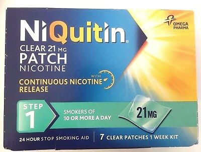 NIQUITIN CLEAR PATCHES STEP 1 - 7 Clear Patches - 21mg