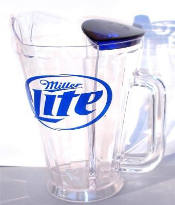 Miller Lite Beer Plastic Frostar Pitcher Ice Chamber 48 oz Bar Pub Party