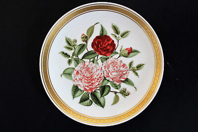 FRANKLIN PORCELAIN CAMELLIAS plate.The Royal Horticultural Society Signature Ed.