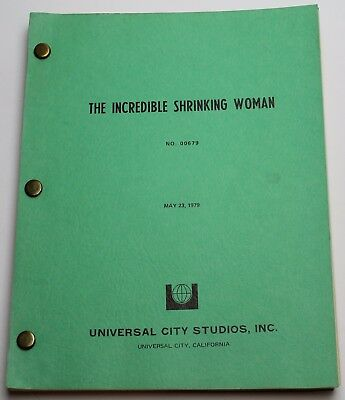 The Incredible Shrinking Woman * 1979 Movie Script Screenplay * Lily Tomlin