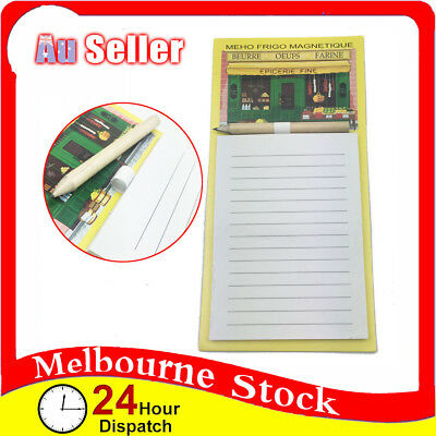 New Magnetic Shopping Fridge Note Pad Checklist to do List Pencil 40 Pages