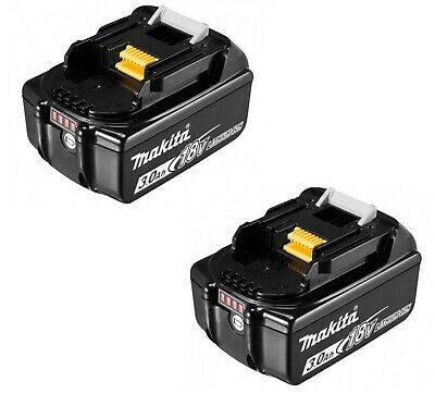 MAKITA 2 batteria litio 18v 3ah lxt originale con led indicatore carica BL1830B