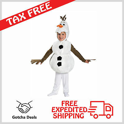 Toddler Costume Christmas Frozen Disney Olaf Deluxe Snowman Kids Fun 4-6 Years