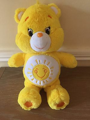 2015 CARE BEARS 14 Inch Plush SUNSHINE BEAR EXC. COND