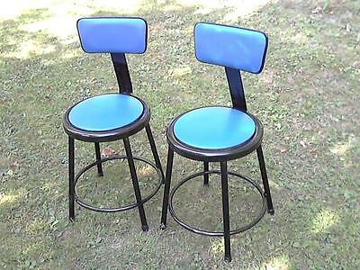 "70 - Great Looking Heavy Metal Industrial Stools / Chairs-Seats 18"" H W/14"" Dia"