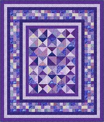 "OPHELIA - 79"" x 67"" -  Pre-cut Quilt Kit by Quilt-Addicts King Single size"
