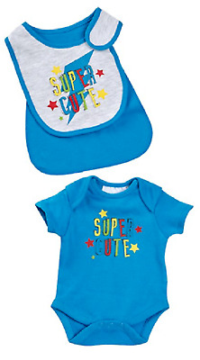 2 pieces Babies bib layette set bodysuit newborn baby