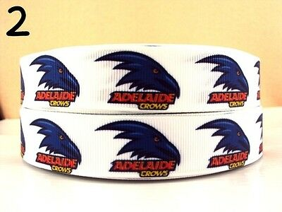 Grosgrain Ribbon Crows White or Yellow Football (1m, 2m or 5m)