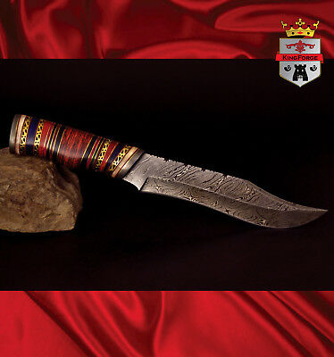 Damascus hunting knife, 072C Special Edition KingForge, Bowie knives bush gift