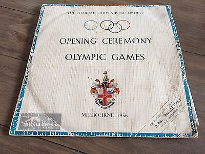 """Opening Ceremony Olympic Games Melbourne 1956 Vinyl Record 10"""" Rare"""