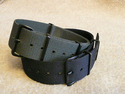 Genuine Phoenix Straps   UK made MOD  NATO  straps   Black,Grey,Olive PVD