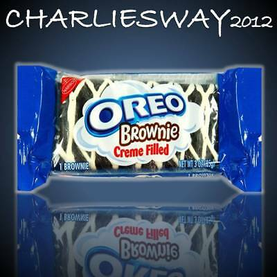 Oreo Brownie 85 G Con Ripeno Creme Filled Crema Vaniglia Snack Made In America