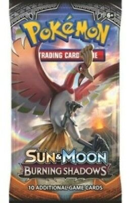 SUN AND MOON: 1x BURNING SHADOWS booster pack