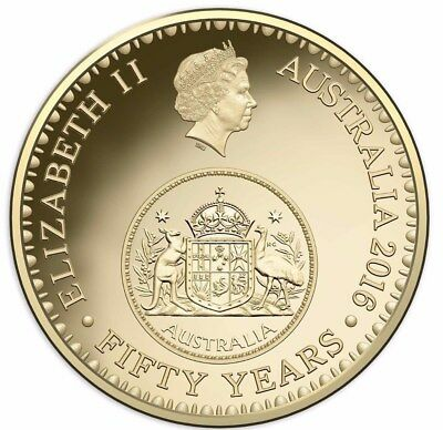 Australian One Dollar $1 Coin - 2016 - 50 YEAR CHANGEOVER Uncirculated RAM Mint